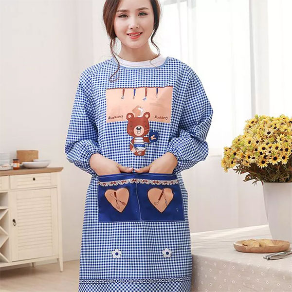 Kitchen Long sleeved Apron Gown