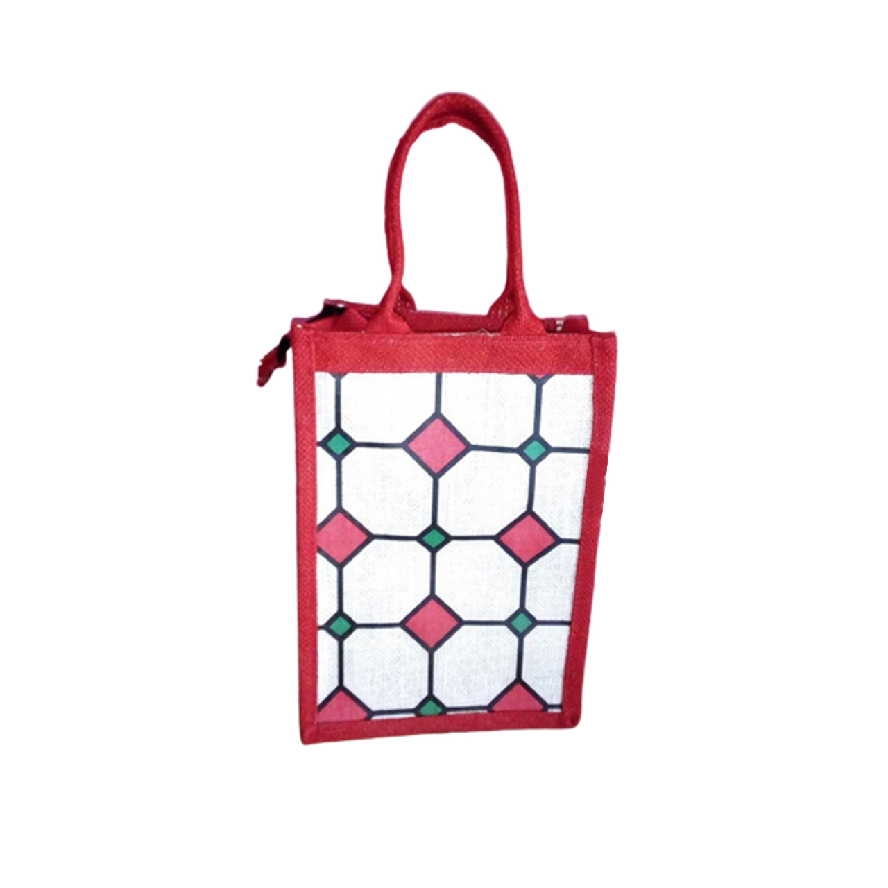 Jute bag for Lunch box with sticker laminated