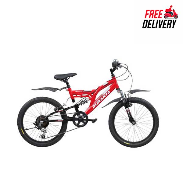 Duranta Bicycle Steel 7-Spd Recoil 20 Red 804254