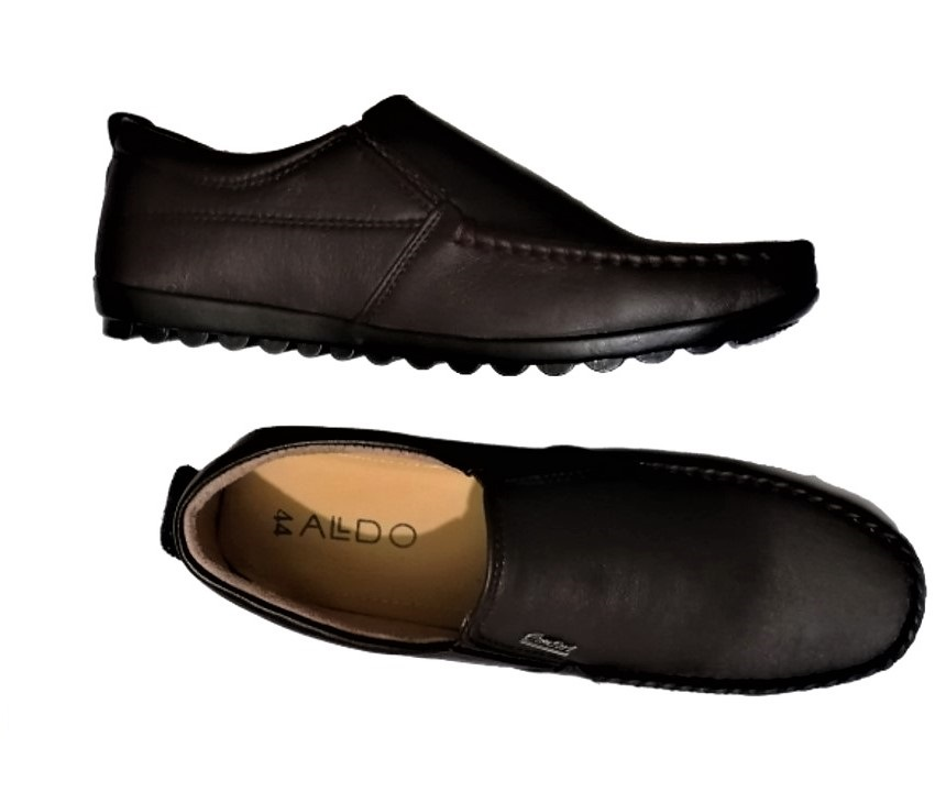 Fashion Leather Loafers Casual Shoes-Chocolate