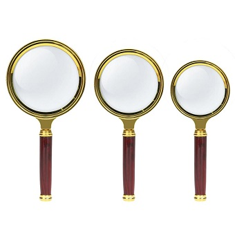 80/70/60mm Handheld 10X Magnifier Magnifying Glass Loupe Reading Jewelry