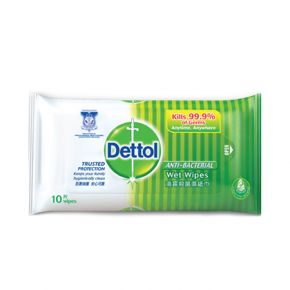 Dettol Antibacterial Disinfectant Wet Wipes Single Pack