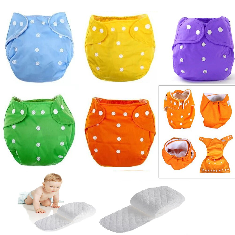 Adjustable Reusable Washable Cloth Diaper (( with 1 Pad 3 Layer ))