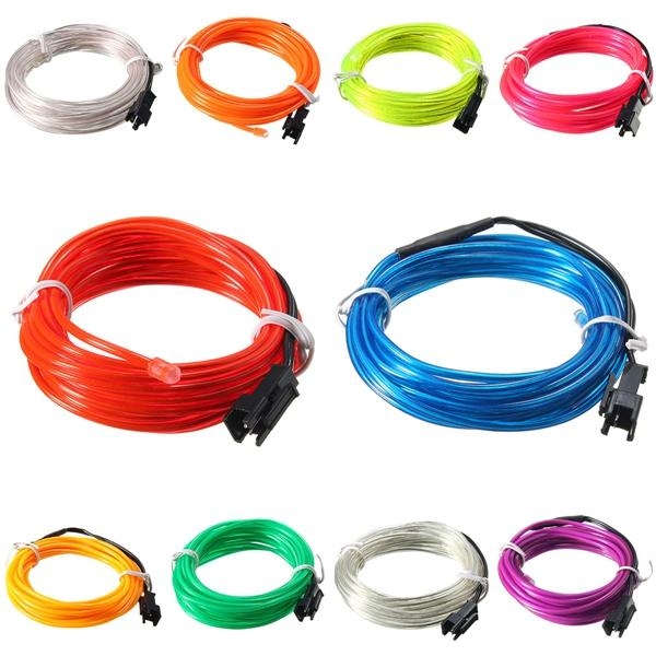 Led Flexible Soft Tube Wire Neon Glow Car Rope Strip Light