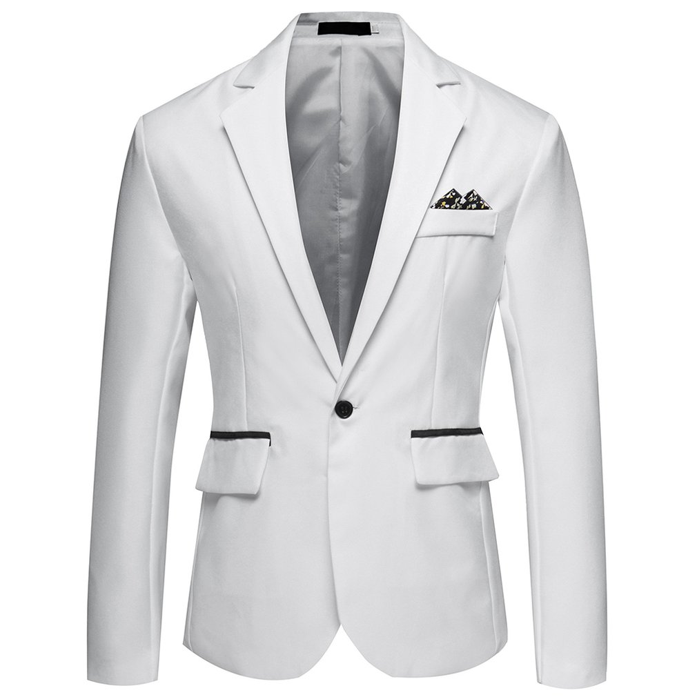 Solid Color Wild Small Suit Men'S
