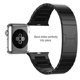 Apple Watch SERIES 4, 44mm Stainless Steel Replacement Band Wrist Strap with Bracelet Clasp