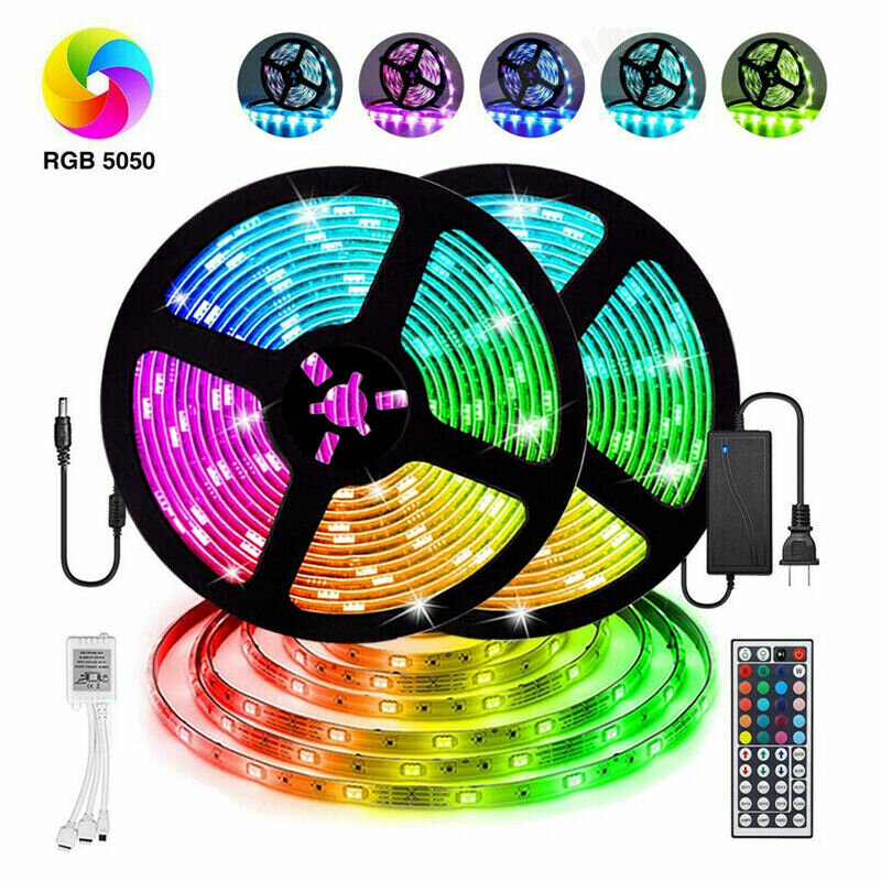 LED Light Strip with Remote for TV Bedroom Party Home Lighting