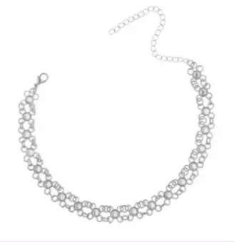 Women Collar Necklace Simple Style Metal Alloy Small Flower Girls Necklace