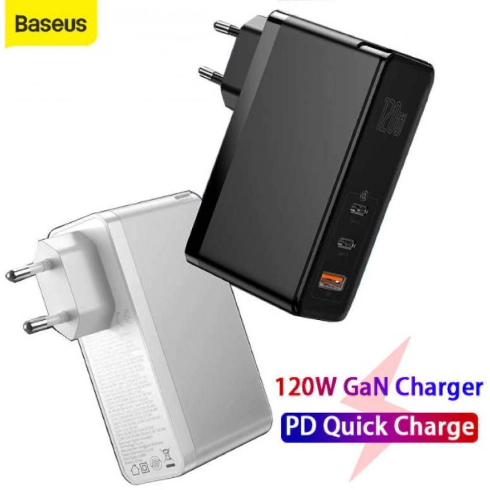 BASEUS 120W GAN CHARGER PD FAST CHARGER