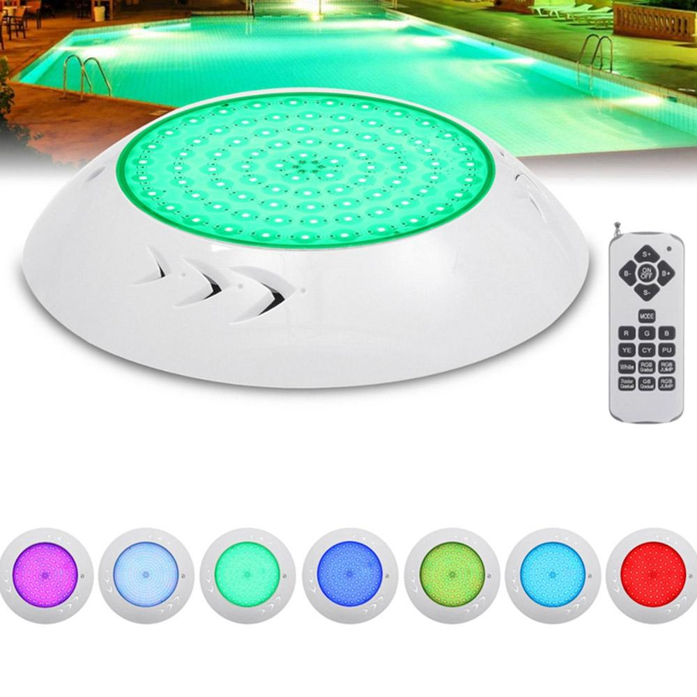 Underwater Swimming Pool Spa LED Light Waterproof RGB Lamp with Remote Controller