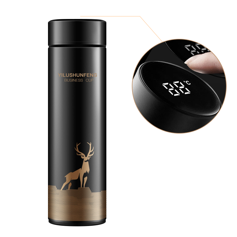 LED Temperature Display Thermos