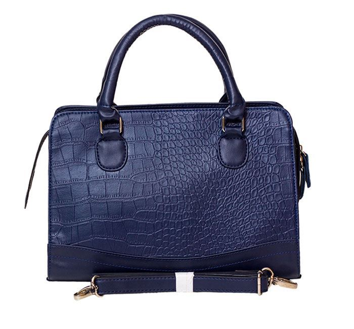 Fashionable Leather Hand Bag for Ladies RB-187 NAV