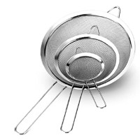 Stainless Steel Fine Mesh Strainers All Purpose Colander Sieve (3 Pack Large)