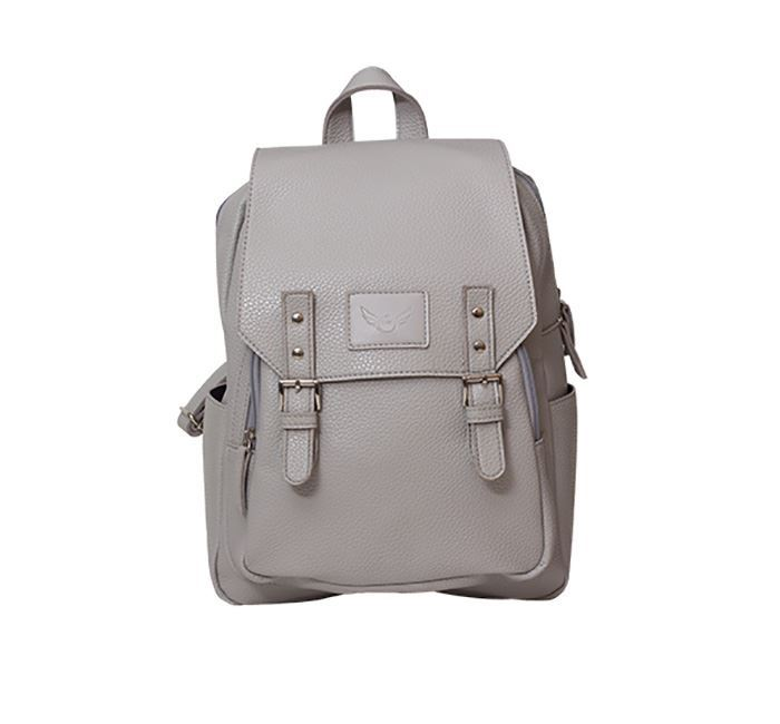 Leather Backpack for Ladies RB-102 Grey