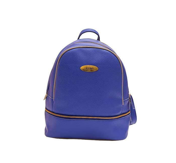 Leather Backpack for Ladies RB-114 BLUE