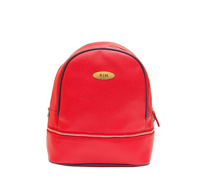 Leather Backpack for Ladies RB-114 RED