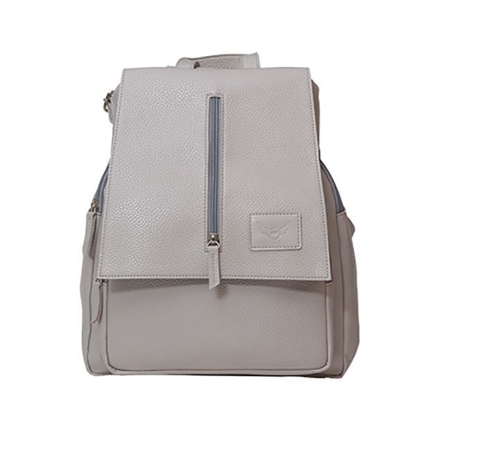 Leather Backpack for Ladies RB-115 Grey