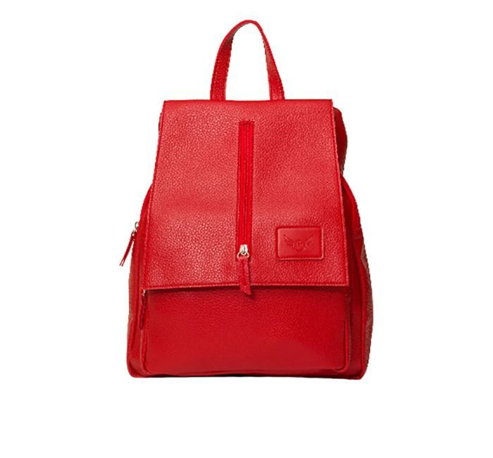 Leather Backpack for Ladies RB-115 RED