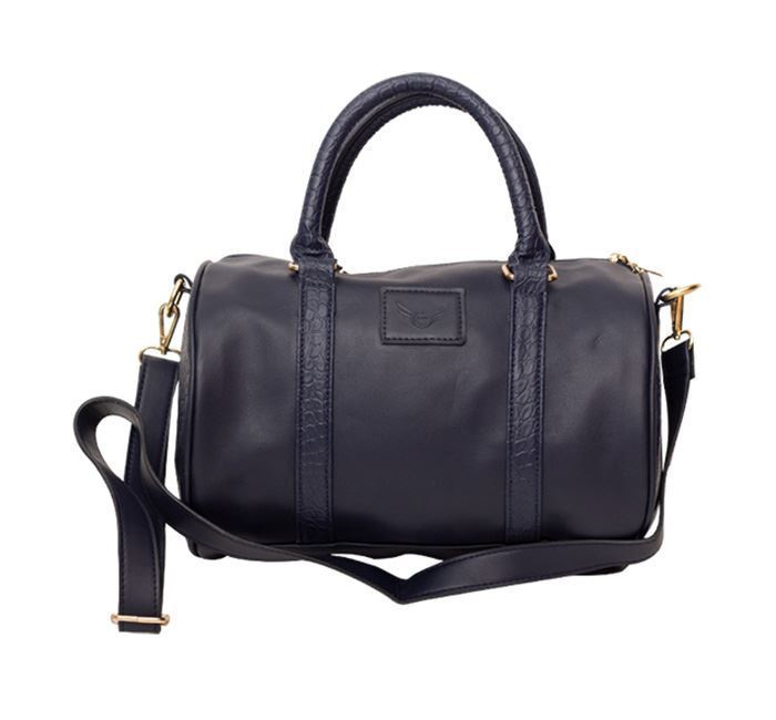 Leather Duffle Bag for Ladies RB-258 BLK