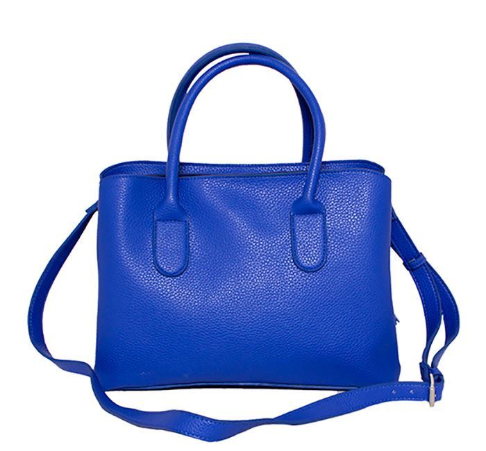 Leather Hand Bag for Ladies RB-105 BLU