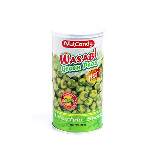 Nut Candy Wasabi Coated Green Peas (Hot Spicy) -180 GM