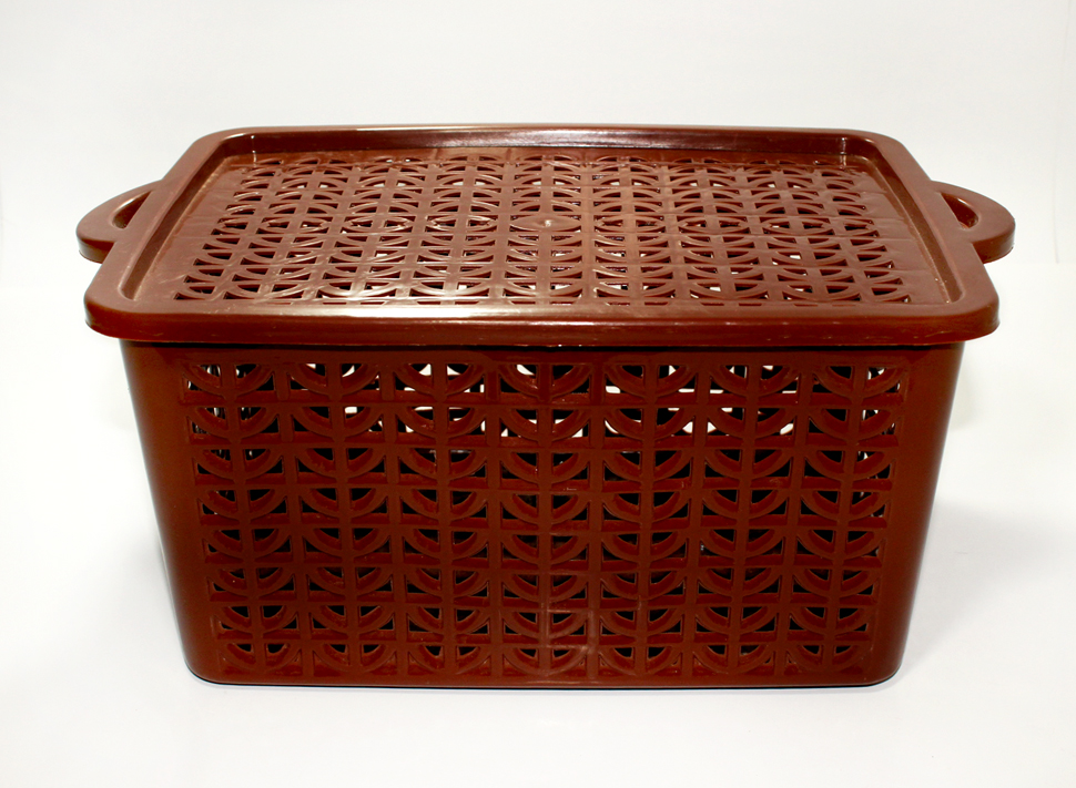 Plastic Basket with cover-multipurpose