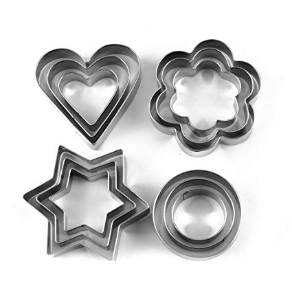 Stainless Steel Cookie Cutter With 4Shape 12 Pieces