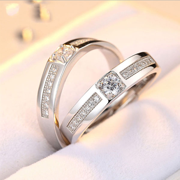 Sterling Silver Opening Couple Ring