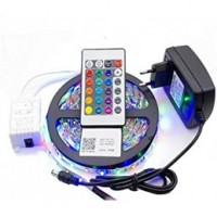 16 Color RGB 5050 LED Fiexble Strip Light With Remote Control