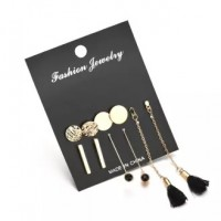 5 Pairs of earring Set stylish and modern collection for Women's Fashion