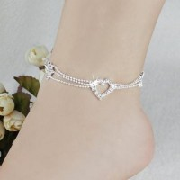 CHARM ANKLETS SILVER PLATED