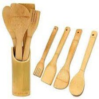 Cooking Spoon 4 pieces set with Holder