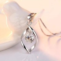 CZ Necklace Earring Bridal Jewelry Sets Wholesale 925 Sterling Silver Shining Cubic Zirconia Water Drop Wedding Engagement