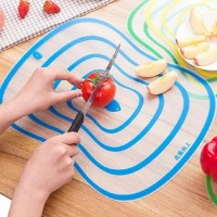 Kitchen Plastic Chopping Block Cutting Board Frosted Transparent Bendable Non-slip